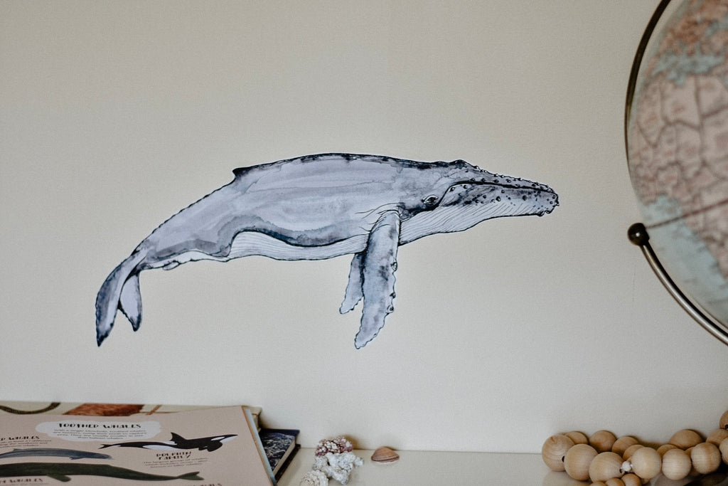 Hector the Humpback Whale Fabric Wall Decal - Separate
