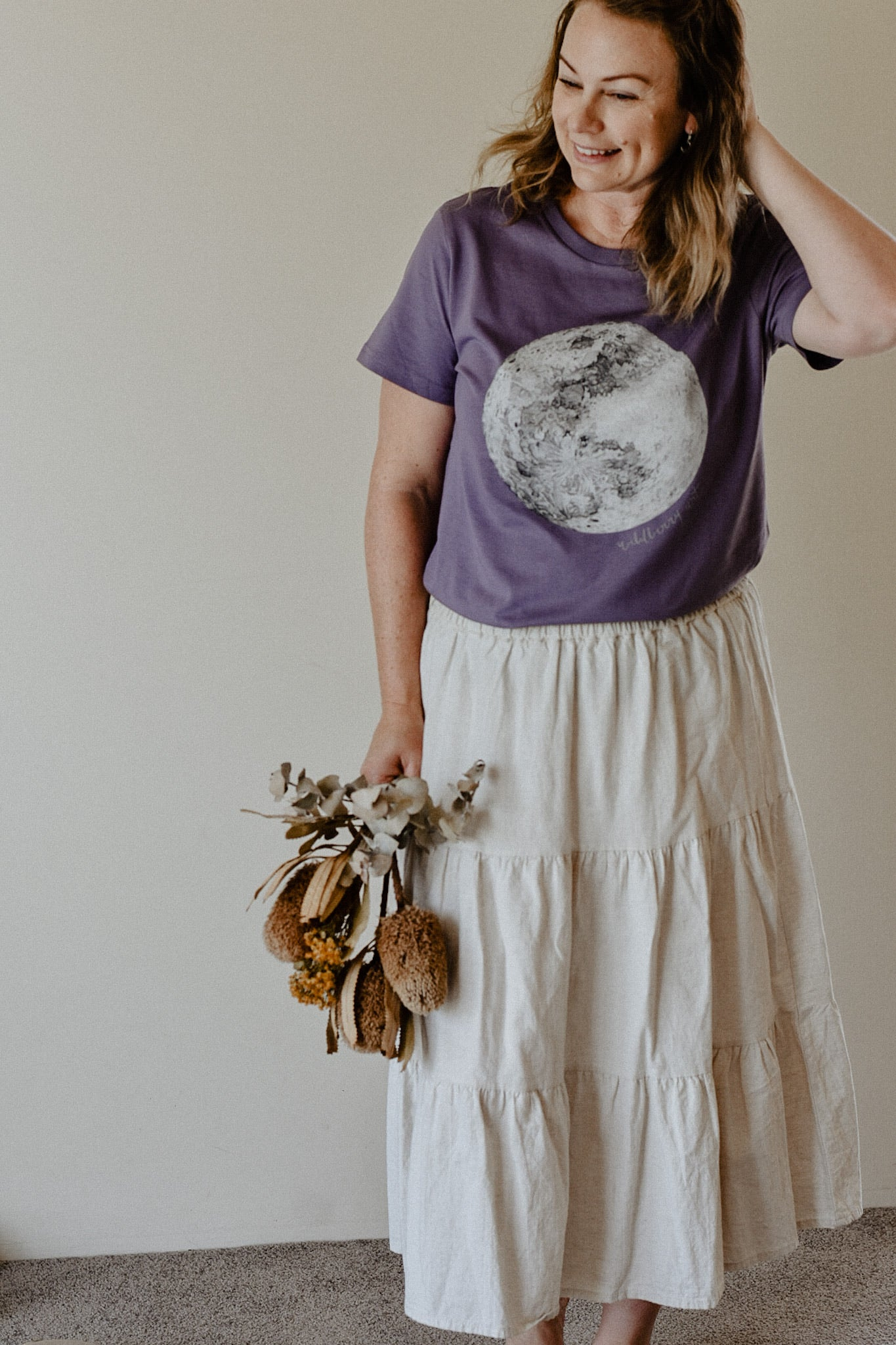 Moon Womens Tee - Mauve - LIMITED RELEASE