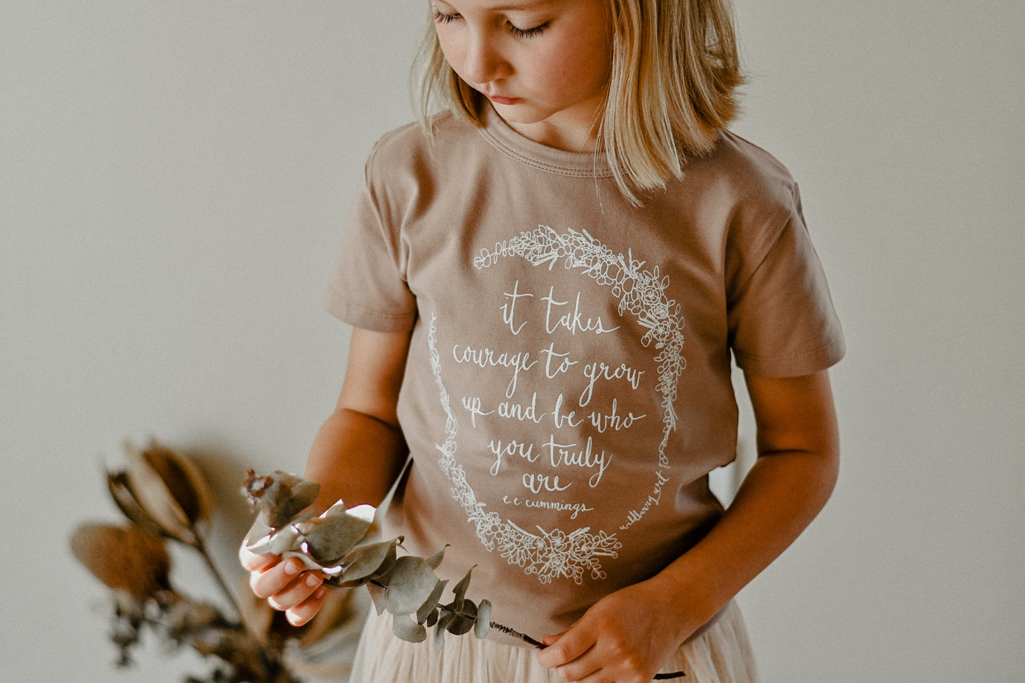 It Takes Courage Kids Tee - Cinnamon