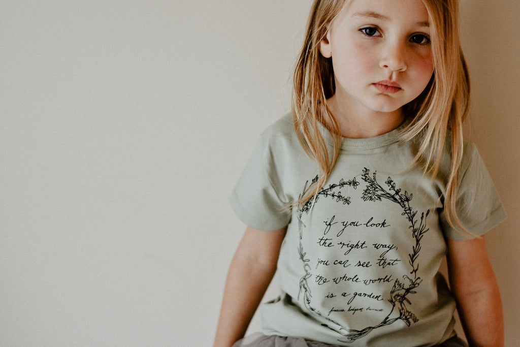 Herb Wreath KIDS Tee - Sage LIMITED EDITION