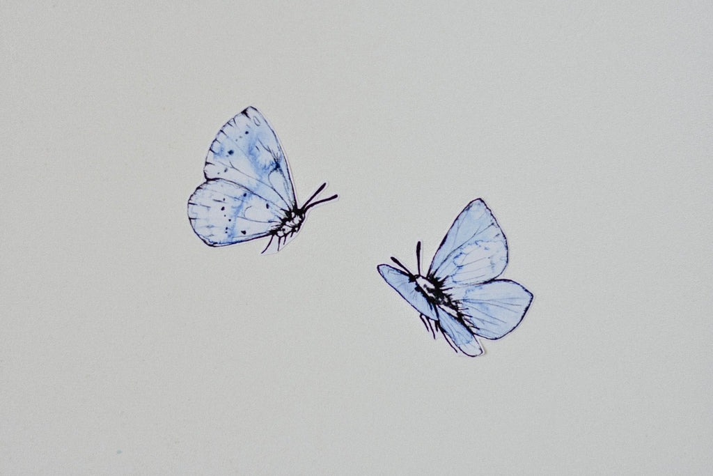 Blue Butterfly Fabric Wall Decals
