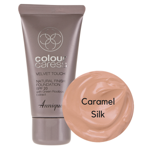 Velvet Touch Natural Foundation: Caramel Silk 30ml