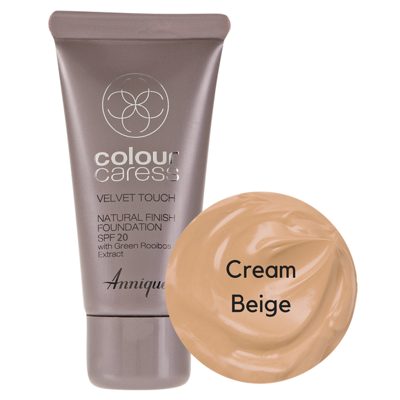 Velvet Touch Natural Foundation: Cream Beige 30ml