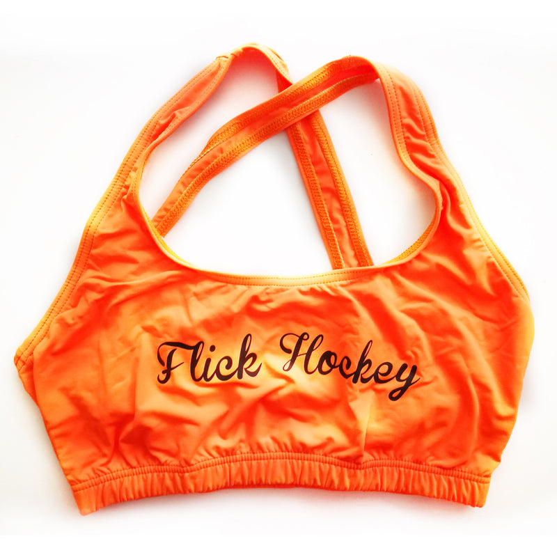 Top deportivo Flick Hockey Naranja Negro