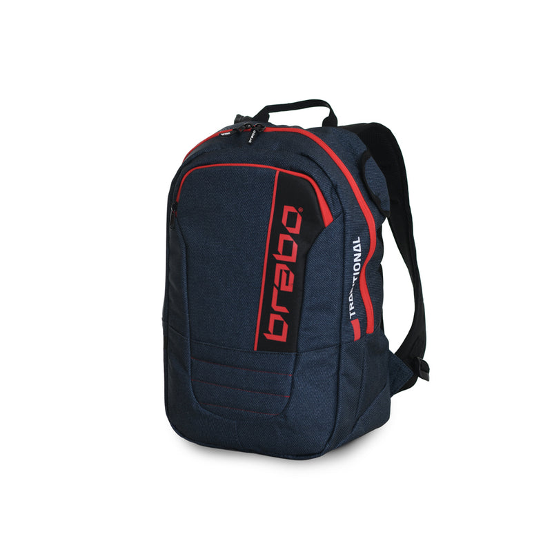 Mochila Brabo Junior Traditional denim Azul/Rojo