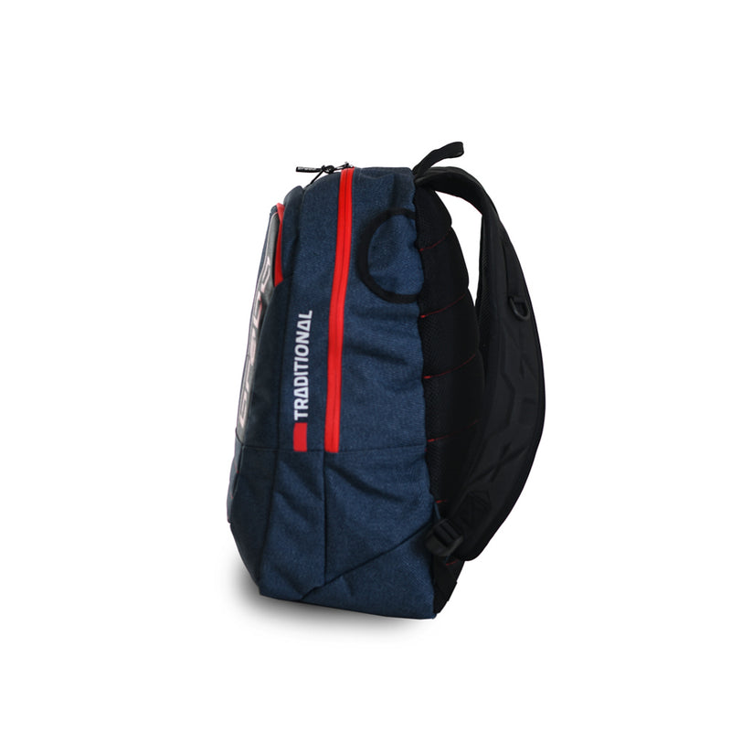 Mochila Brabo Senior Traditional denim Azul/Rojo