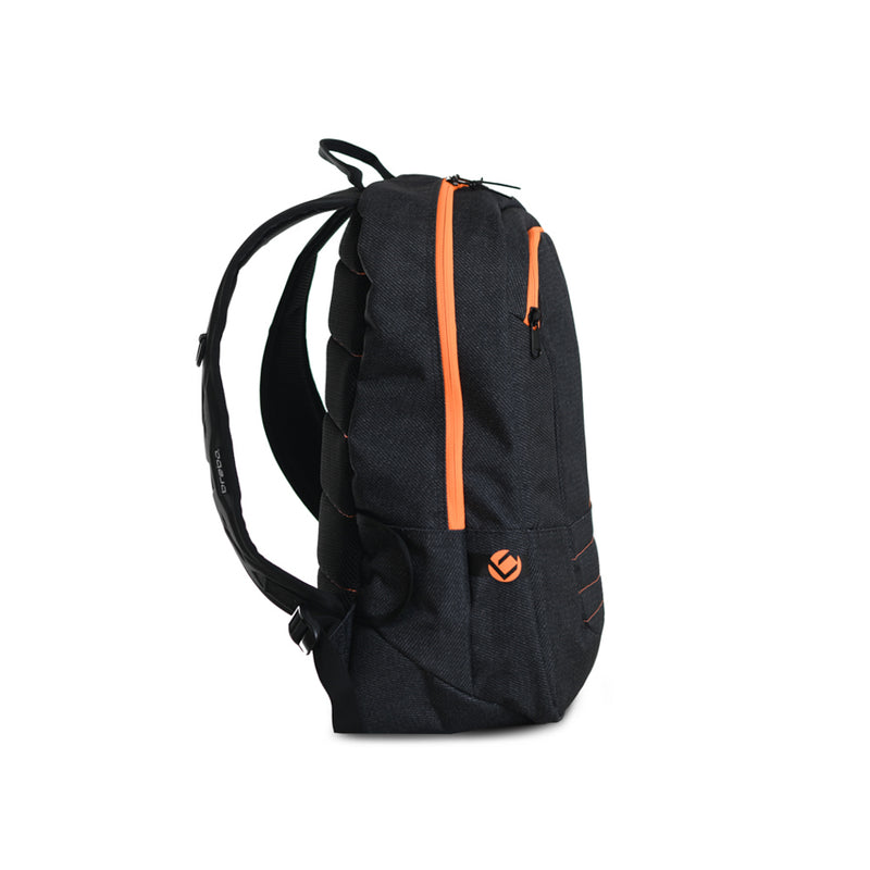Mochila Brabo Junior Traditional denim Negro/Naranja