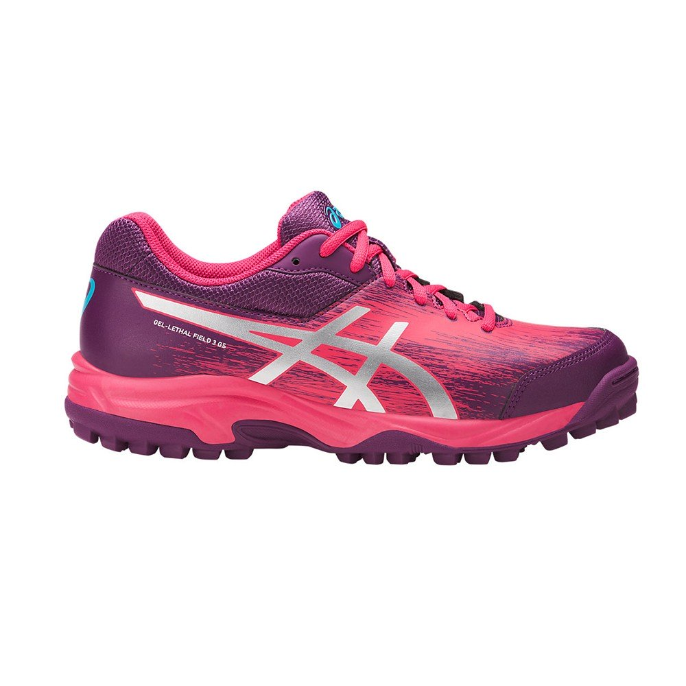 Zapatillas Hockey Asics Gel-Lethal Field 3 Gs Violeta Rosa Infantil