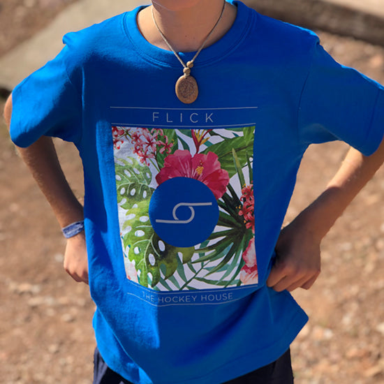 Camiseta Flick Flowers JR Azul