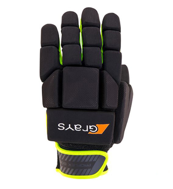 Grays Proflex 600 Indoor Glove Black Yellow Left Hand