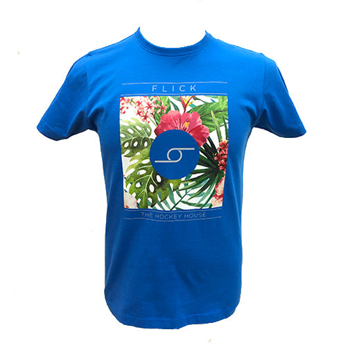 Camiseta Flick Flowers M Azul