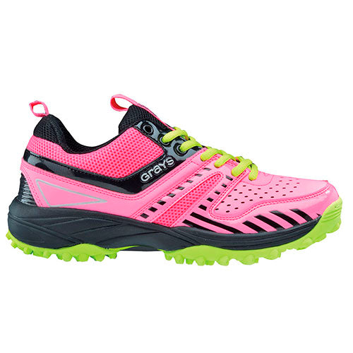 Zapatillas Hockey Grays G500 Rosa Amarillo Infantil
