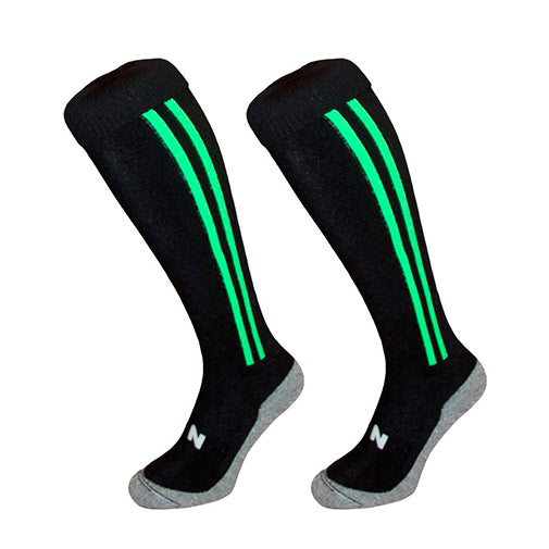 HINGLY Calcetines Stripes Negro/Verde