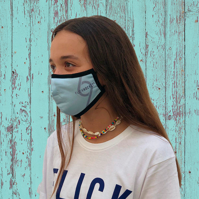 Mascarilla Flick Hockey Adulto Turquesa