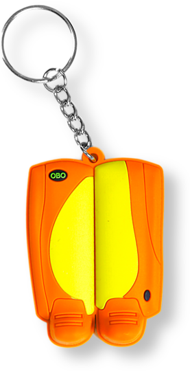 OBO Key Ring - Legguards Yellow/Orange