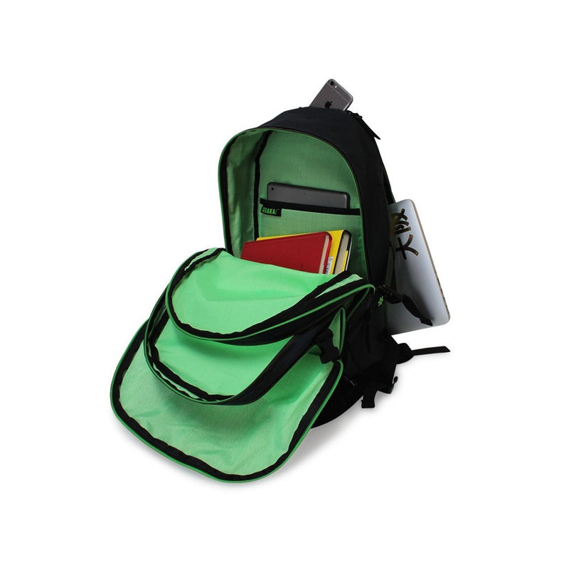 Mochila Osaka Unstoppable Black Green