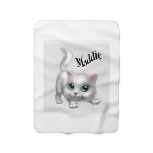 Kitten Sherpa Fleece Blanket