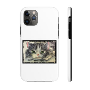 Customize Playful Kitten Watercolor Case Mate Tough Phone Cases