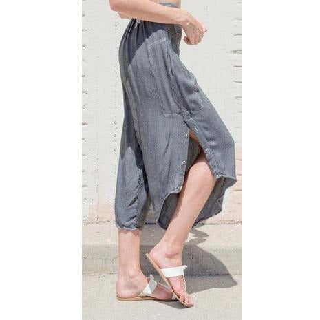 Slit Leg Capri Pants - Sage Moon