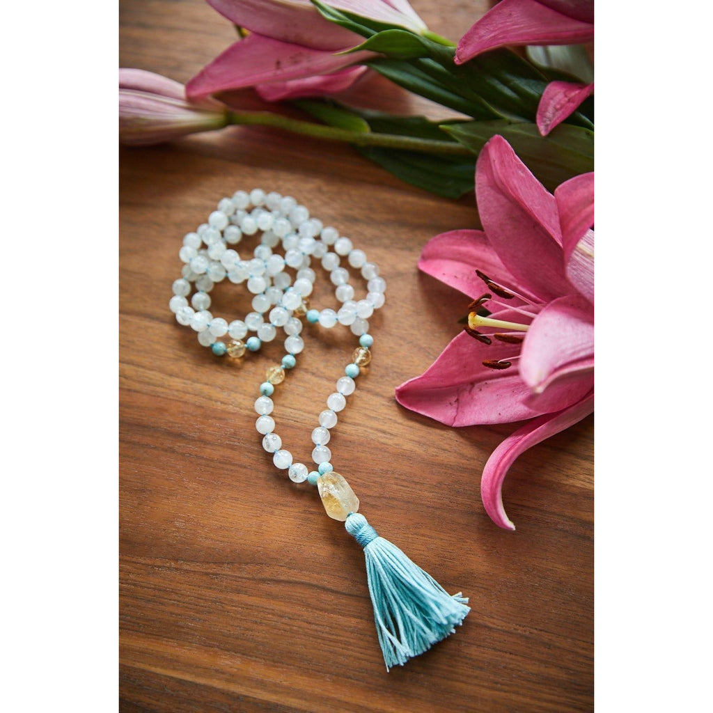 Goddess Mala Jewelry- Sage Moon