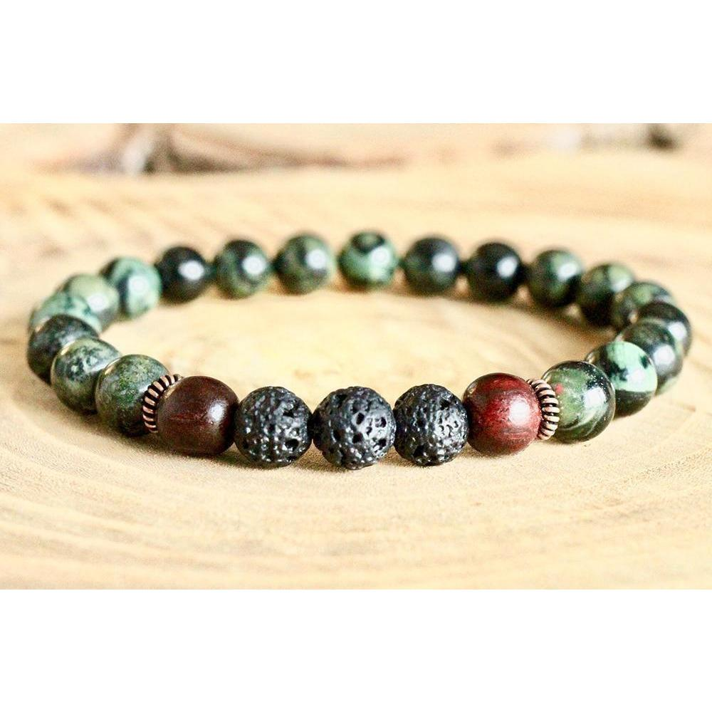 Green Warrior Bracelet Jewelry- Sage Moon