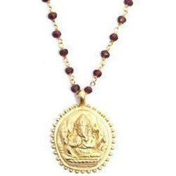 Garnet Ganesha Necklace - Sage Moon