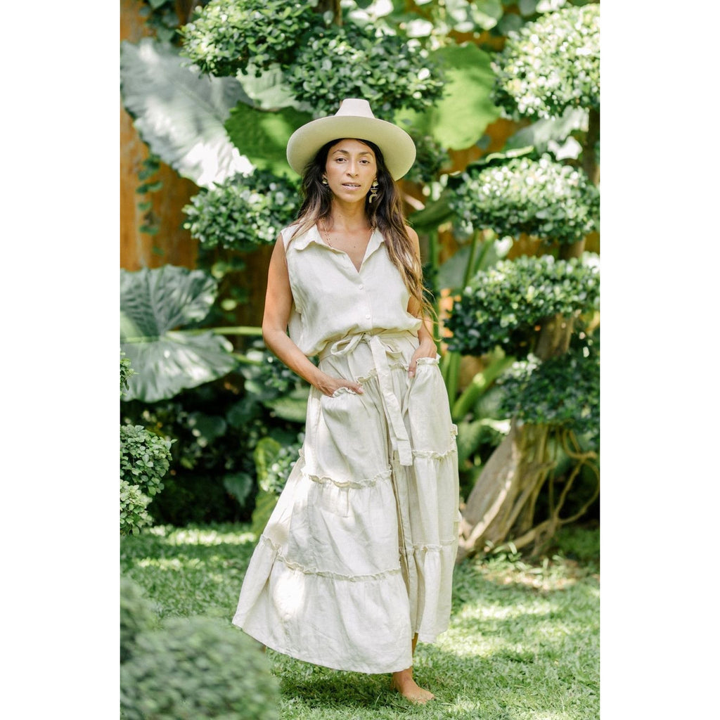 La Dama Sleeveless Dress - Sage Moon