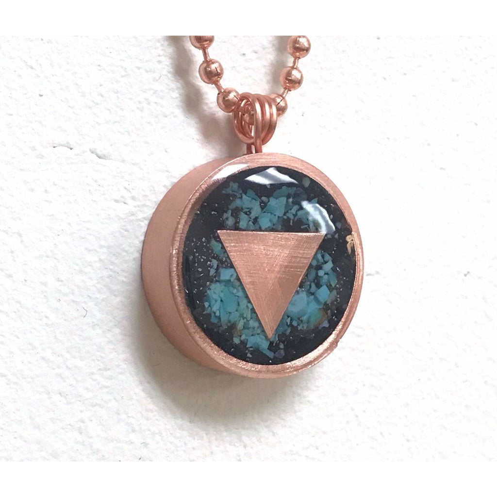 EMF & 5G Protection Copper Triangle Pendant - Sage Moon