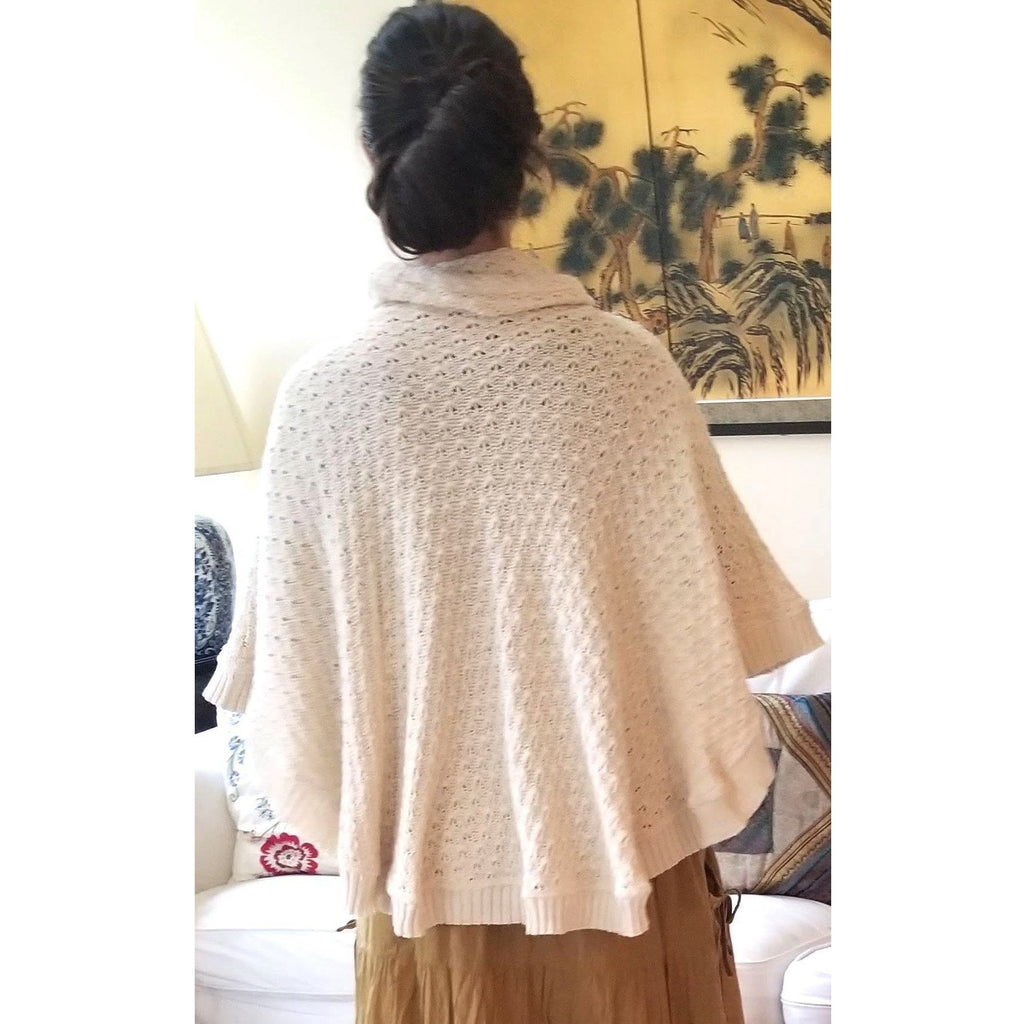 Cotton Knitted Poncho Tops- Sage Moon