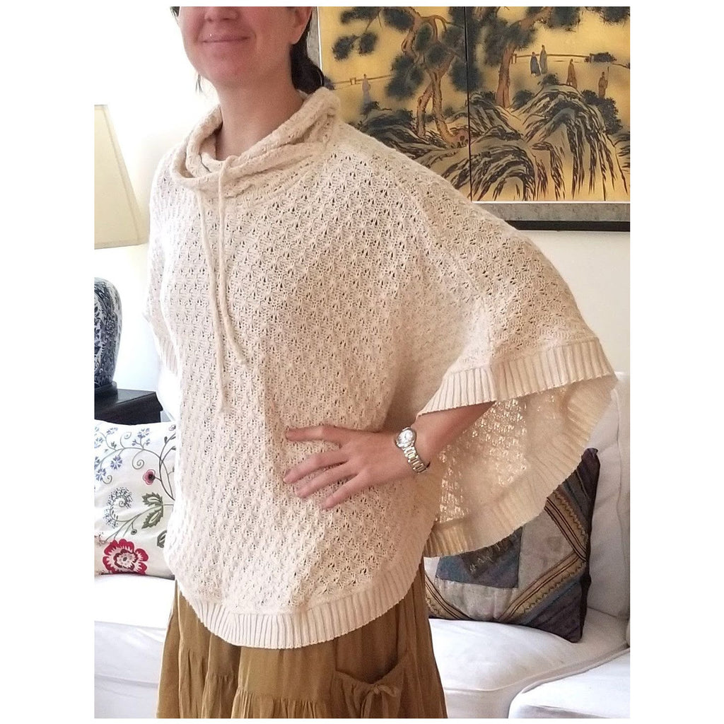 Cotton Knitted Poncho