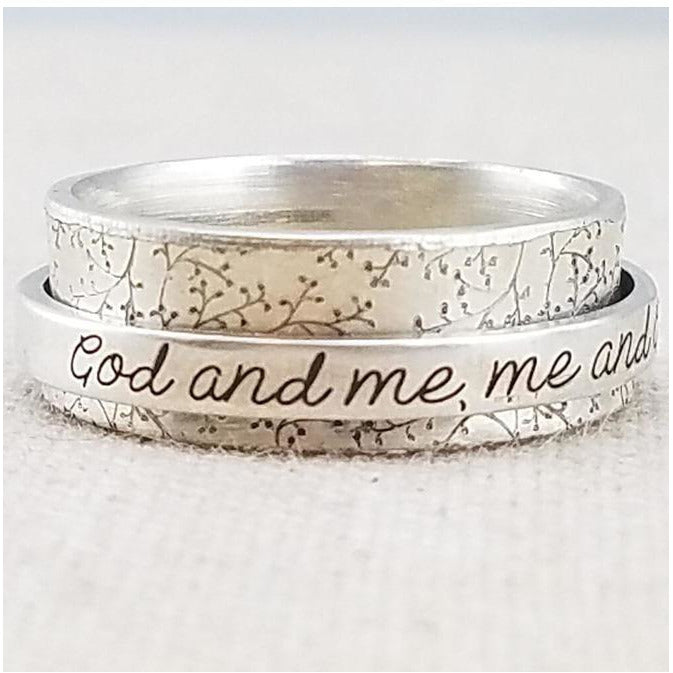 god and me spinner ring