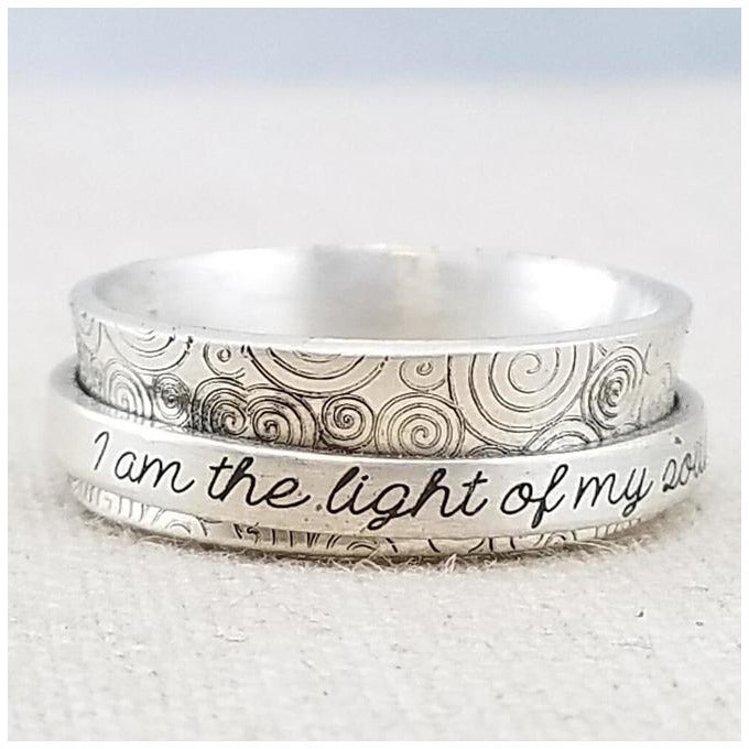 Light of my soul Spinner Ring - Sage Moon