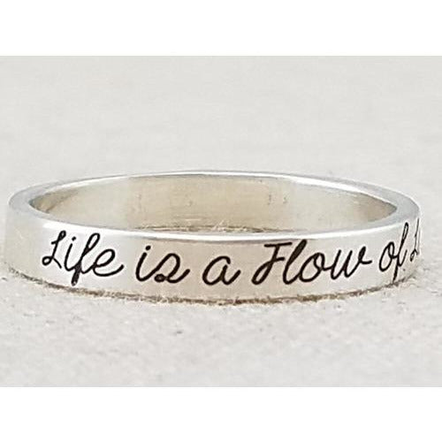 Flow of Love Silver Ring - Sage Moon