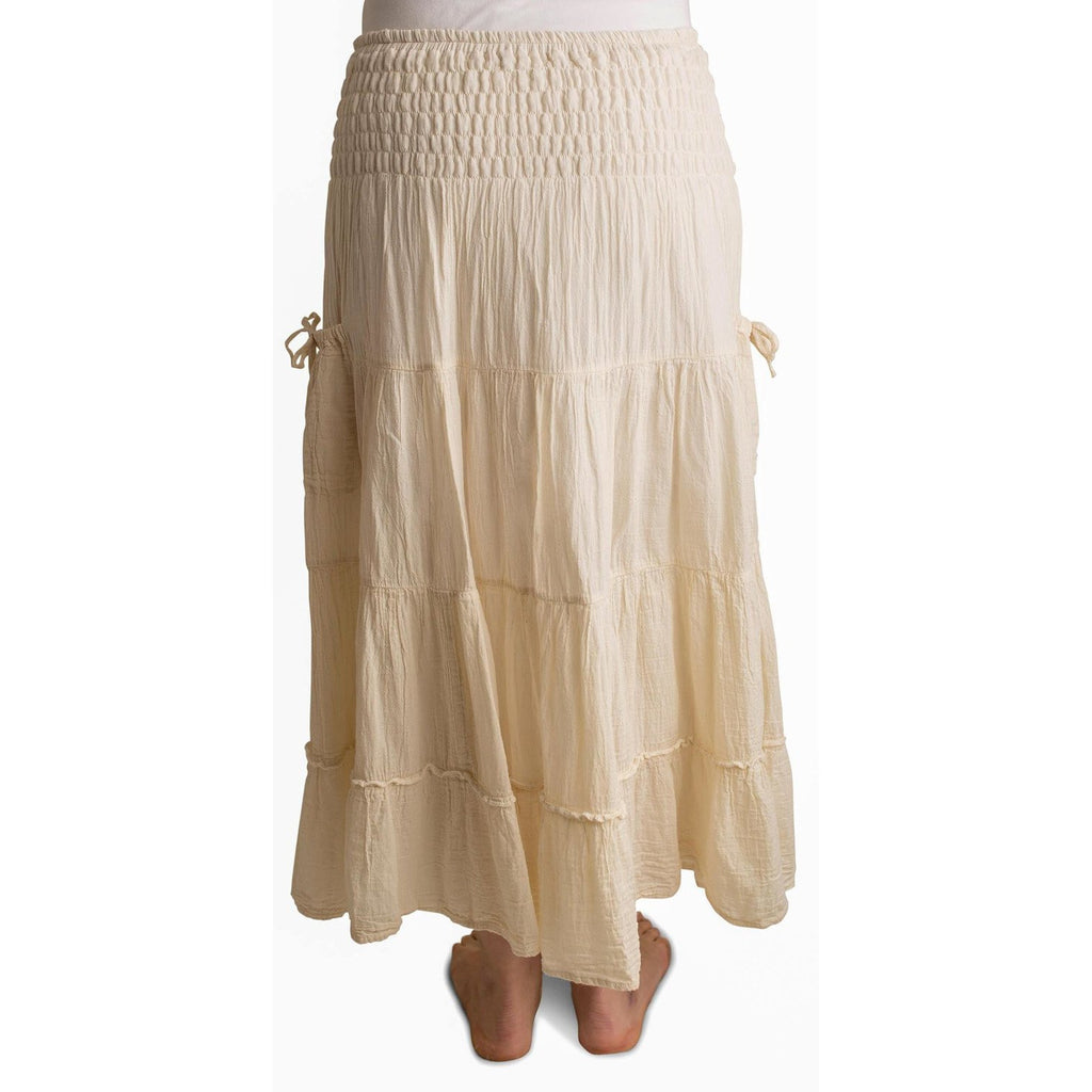Cram Maxi Skirt with pockets. Back View