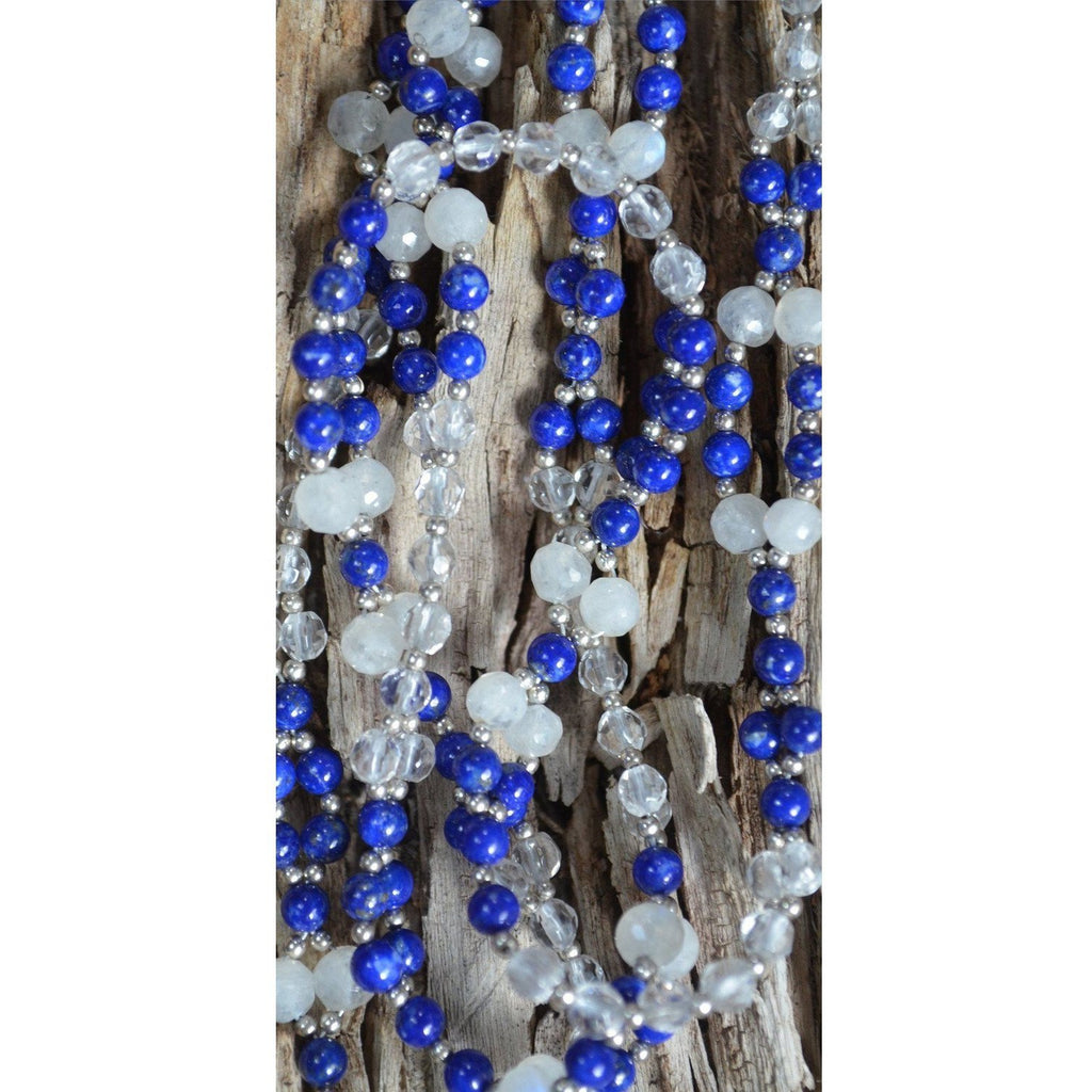 Lapis, Moonstone and Quartz Tantric Necklace