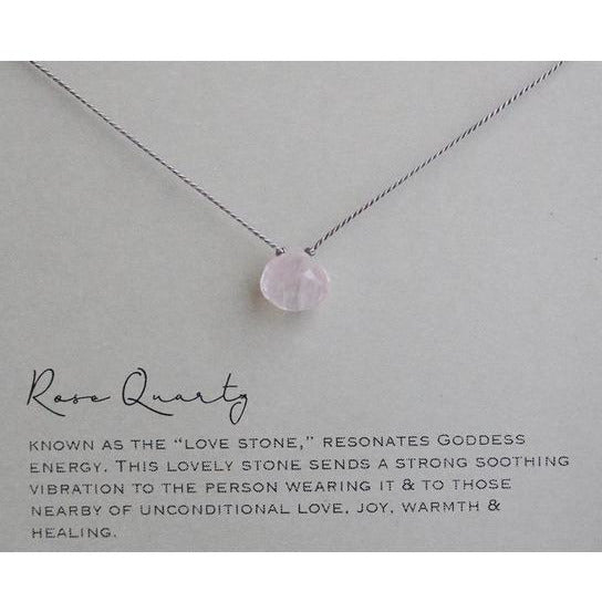 Rose Quartz Single Stone Necklace
