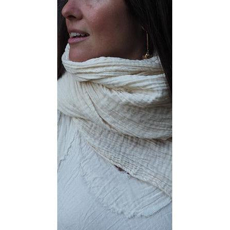 The Rhea Gauze Cotton Scarf - Sage Moon