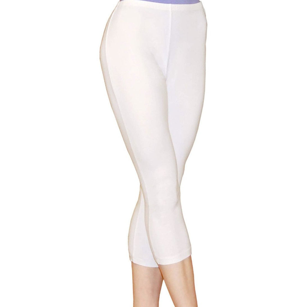 Capri Cotton Leggings Pants- Sage Moon