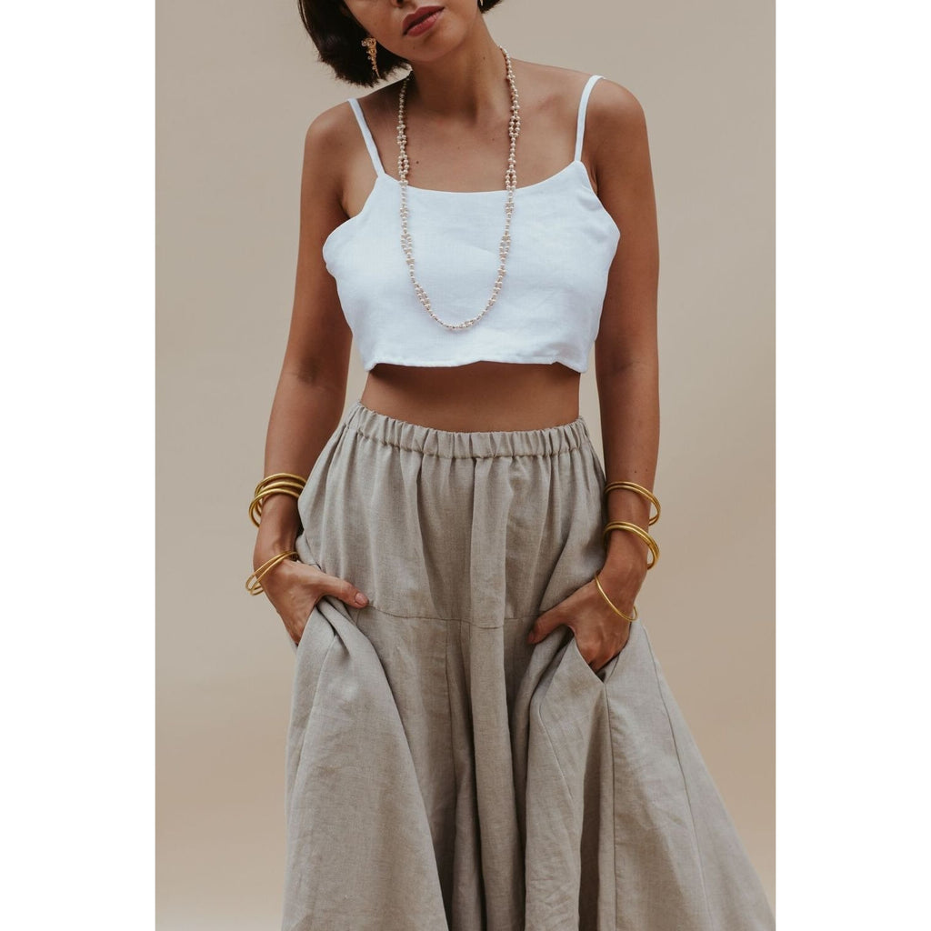 River Pant (in flax or white) - Sage Moon