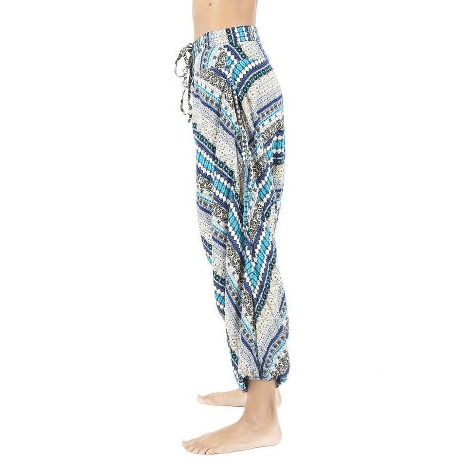 Turquise Elephant Pant  side