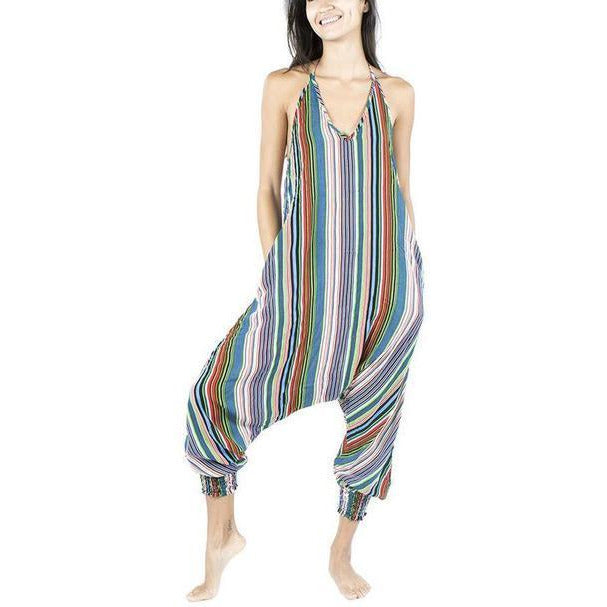 Striped Harem Jumpsuit Jumpsuits- Sage Moon