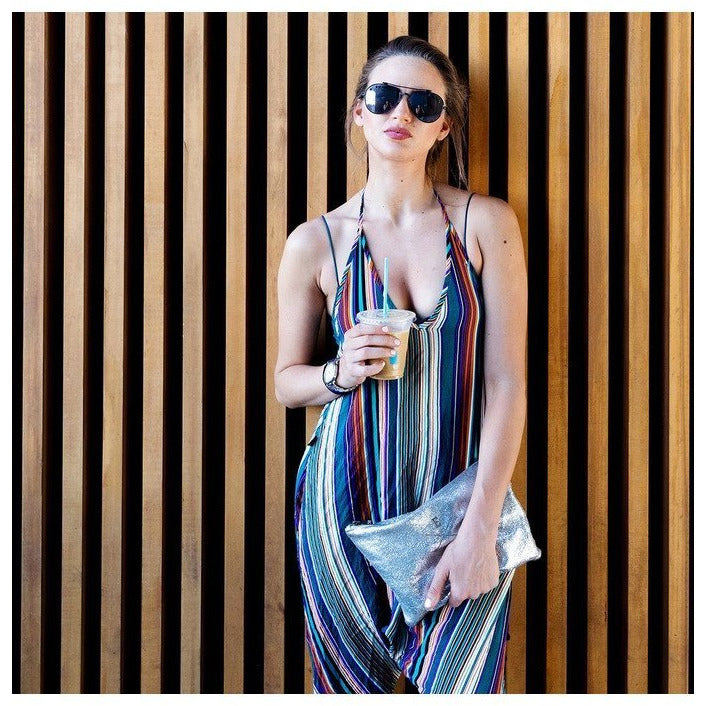 Striped Harem Jumpsuit