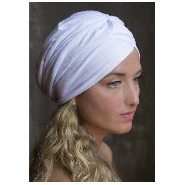 White Turban Scarf Head Covers- Sage Moon