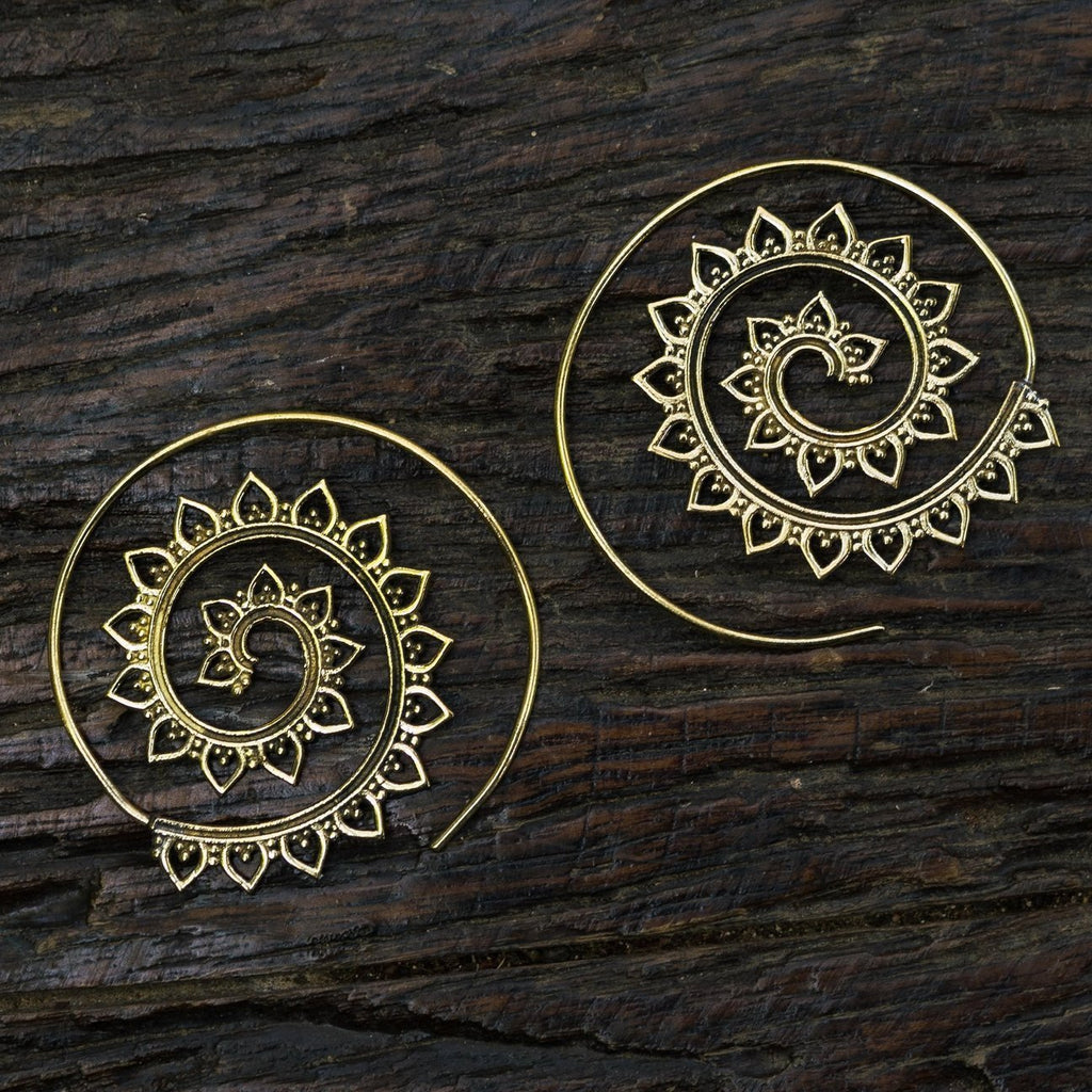 Kundalini Shakti Earrings Jewelry- Sage Moon