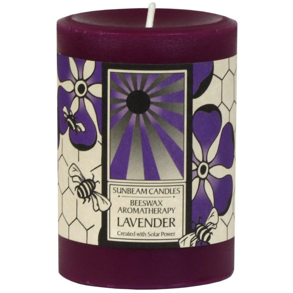 Lavender Beeswax Candle - Sage Moon