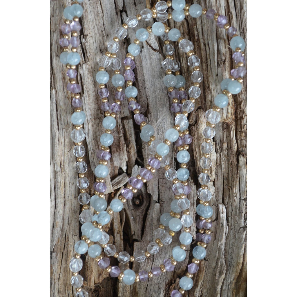 I AM LOVE 4mm Tantric Necklace - Sage Moon