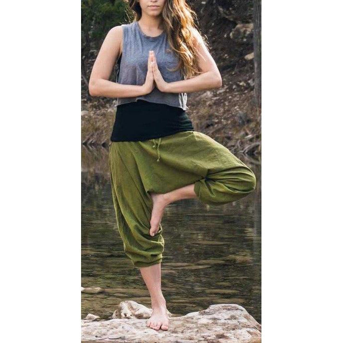 Organic Cotton Harem Pants - Sage Moon
