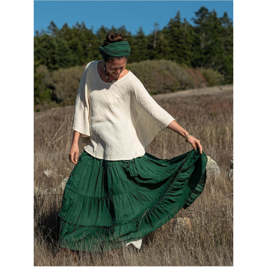 Tiered Maxi Skirt with pockets (available in 13 Colors) Skirts & Dresses- Sage Moon