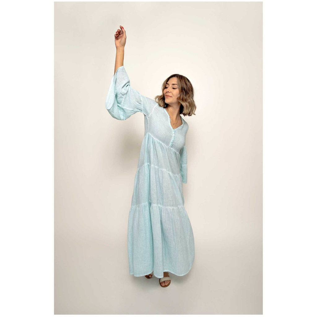 Long Tiered Goddess Dress - Sage Moon