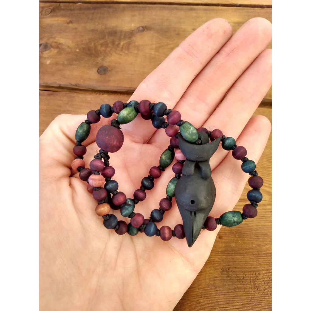 Small Crescent Goddess Rosary - Sage Moon